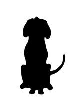 Umriss Sitzender Hund Schatten...