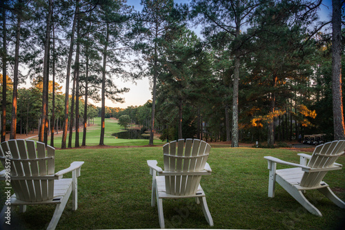 Fotografie, Tablou Golf course country club resort lifestyle