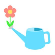 じょうろ口から咲く花