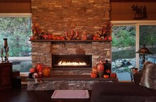 Cozy, Large, Flames-A-Glow Sto...