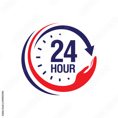 Fototapeta  24 hour medical care service vector icon