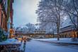 Ballhof in Hannover bei Schnee im Winter