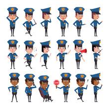 Bundle Of Police Officers Char...
