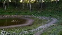 Slow Pan Of Kaali Meteorite Cr...