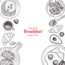 Healthy Breakfast  Frame. Brea...