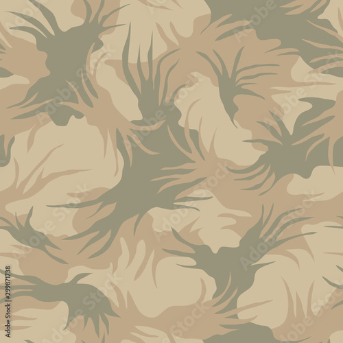 Seamless camouflage pattern Wallpaper Mural