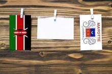 Hanging Flags Of Kenya And May...