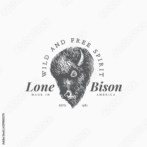 Bison label template Canvas-taulu