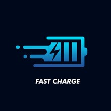 Fast Charge Logo Icon Design Vector