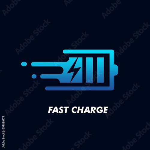 Foto Fast Charge Logo Icon Design Vector