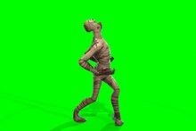 Fantasy Character Mummy - 3D Render, On Green Background