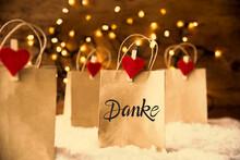 Christmas Shopping Bags On Sno...