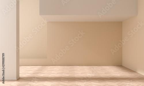 Pinturas sobre lienzo  Empty wall mock up in modern style interior