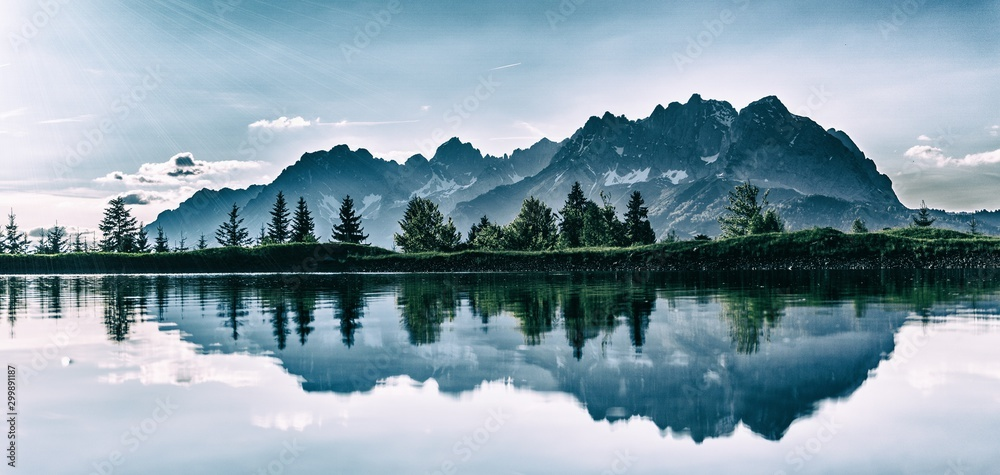 Fototapety, obrazy: lake in the mountains