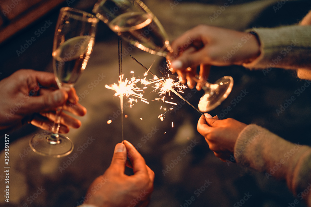 Fototapety, obrazy: Family New year