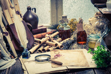Rustic Witch Workshop With Old...