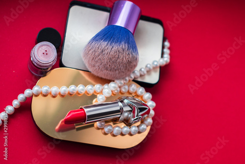 Concept of cosmetics and beauty products, christmas gift and inspiration for ...