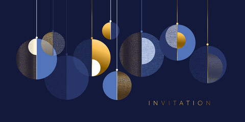 Christmas abstract bauble elegant geometric header