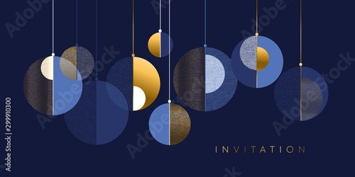 Christmas abstract bauble elegant geometric header