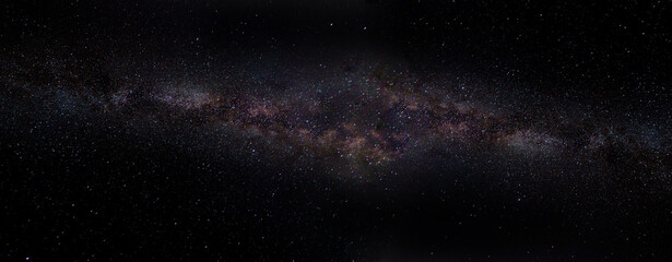 panoramic view of the universe in space from the Milky Way galaxy