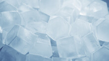 Macro Shot Of Ice Cubes From C...