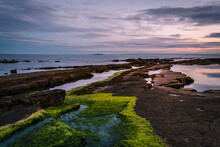 Sunset At The Rocky Beach Of C...