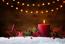 Christmas Or Advent Candle, Fi...