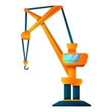 Cabine Crane Icon. Cartoon Of Cabine Crane Vector Icon For Web Design Isolated On White Background