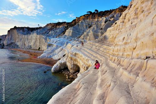 stair of the turks (Scala dei Turchi) mediterranean Beach Agrigento Italy Canvas Print