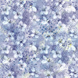 Illustrated abstract seamless pattern, grunge and flowers.