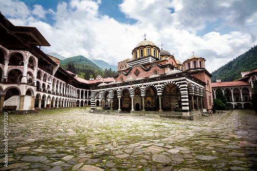 Stampa su Tela Rila Monastery, one of the main tourist destinations and UNESCO site in Bulgaria