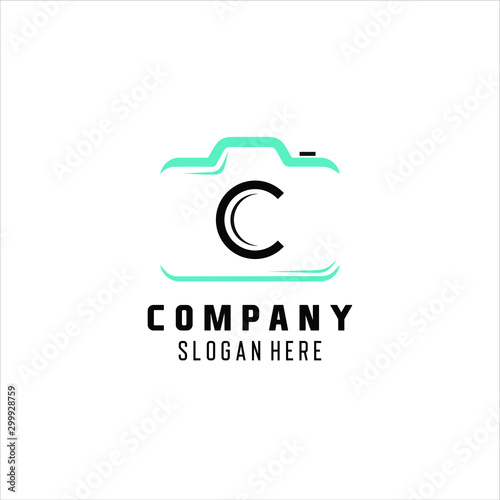 Photography Modern Camera Logo . Photography logo, letter C , logo design inspiration Wall mural