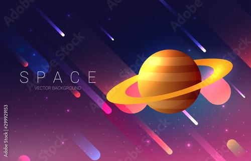 Obraz na plátně Planets set of the solar system. Simple flat