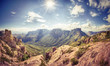 canvas print picture - Sunny Day at the Big Bend National Park