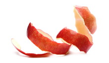 Red Apple Peel Isolated On White Background