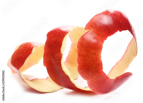 Cuadros en Lienzo Red apple peel isolated on white background