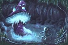 Fantasy Creature Nearby Glowin...