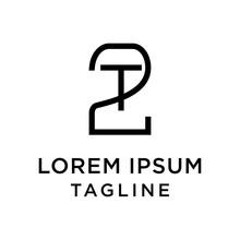 Initial Letter Logo 2T, T2 Log...