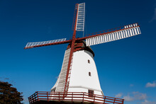 Old Windmill On Background Of ...