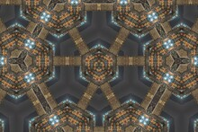 Abstract Reflection Of Building Like A Cosmos City, Kaleidoscope Image