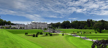 Enniskerry, County Wicklow, Ireland, Panoramic View To Powerscourt Estate Mansion Grounds And Gardens