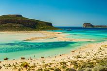 Balos Beach And Lagoon, Gramvousa Peninsula, Crete, Greece