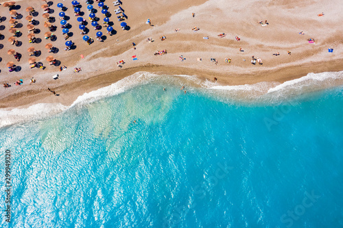 famous Ellie beach in Rhodes Fototapet