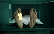 Male Human Body Lying Dead At ...