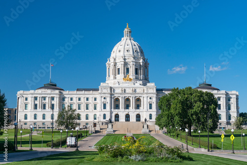 Facade of the Minnesota State Capitol Building in St Paul Fototapet