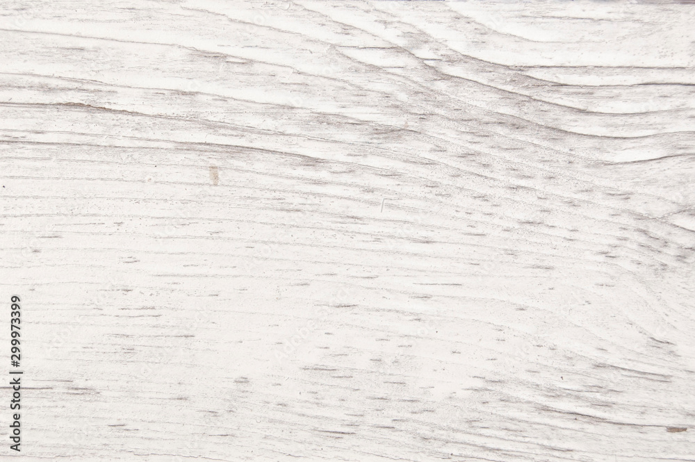 Fototapety, obrazy: Vintage painted wooden texture. White horizontal background of wood.