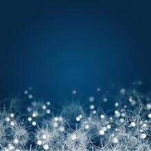 Christmas Navy Blue Abstract B...