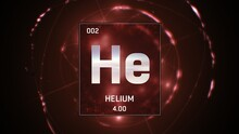 3D Illustration Of Heliumn As ...
