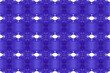 canvas print picture - Watercolor seamless geometric pattern. In navy blue, white colors.