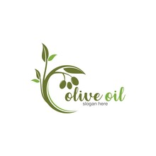 Olive Oil Logo Template Vector...